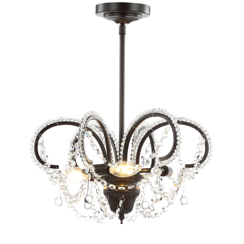 "Caroline 16"" Metal/Crystal LED Adjustable Pendant"