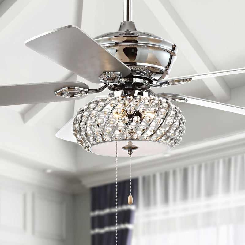 "Crista 52"" 3-Light Metal/Wood LED Ceiling Fan"