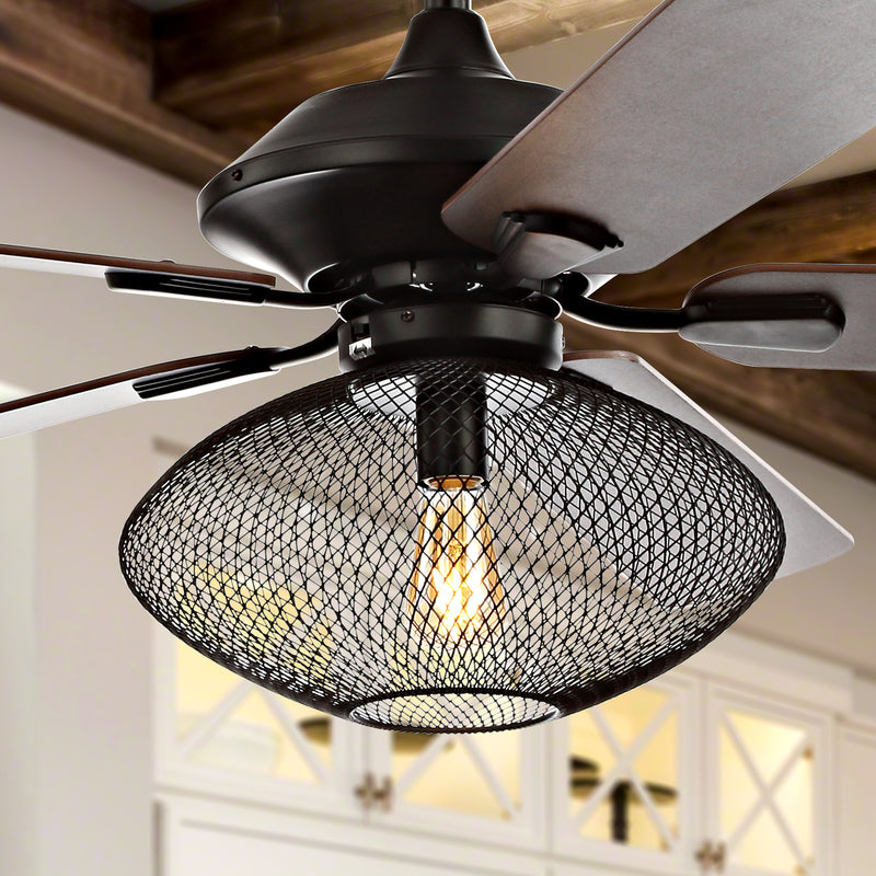 "Clift 52"" 1-Light Mid-century LED Ceiling Fan With Remote"