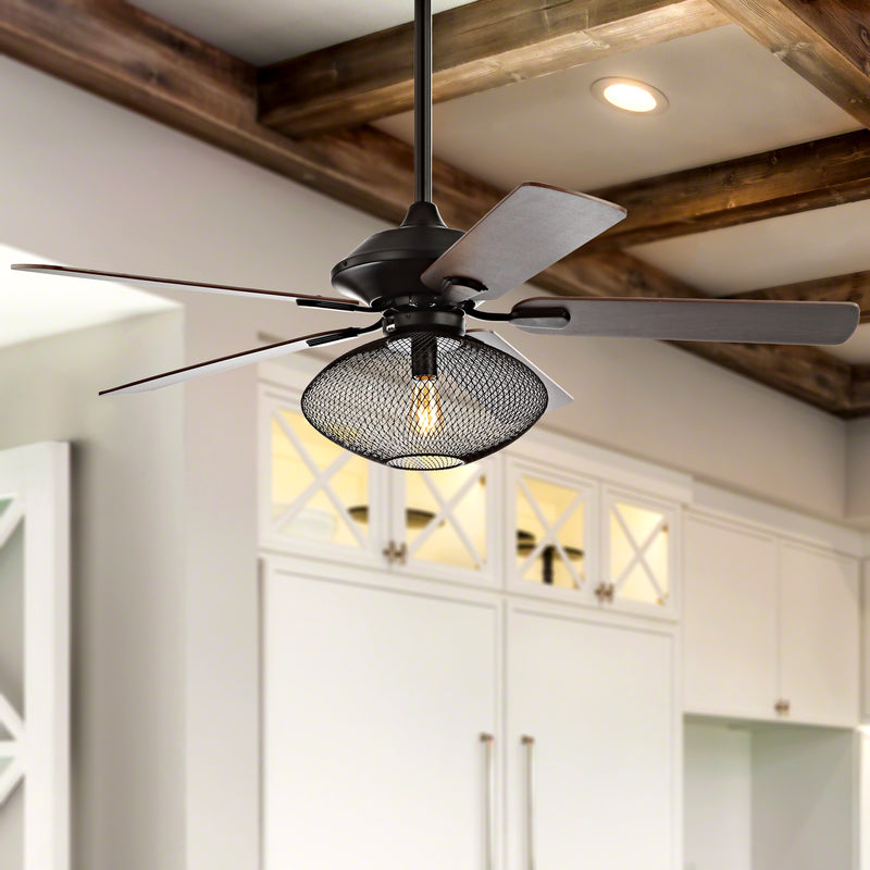 "Jonathan Y Clift 52"" 1-Light Mid-century LED Ceiling Fan With Remote"