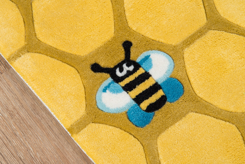 Lil Mo Whimsy Honeycomb Gold Rug