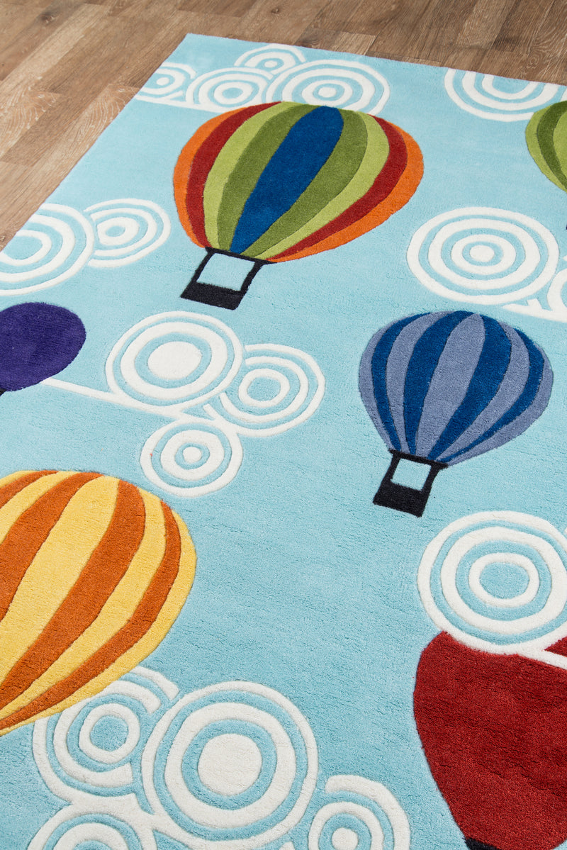 Lil Mo Whimsy Hot Air Balloons Rug