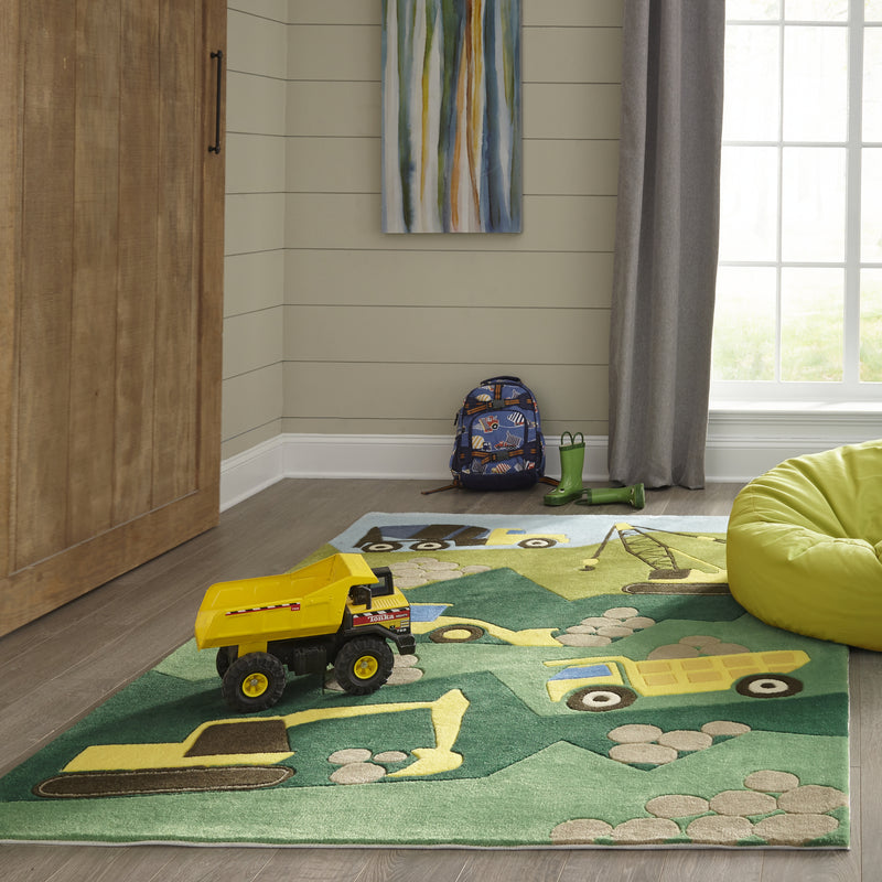 Lil Mo Whimsy Construction Rug