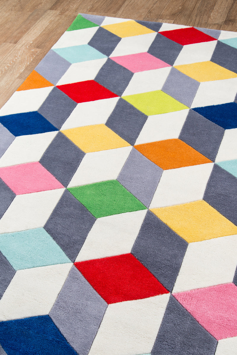 Lil Mo Hipster Cubes Rug