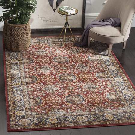 Bijar Collection Traditional Oriental Distressed Area Rug
