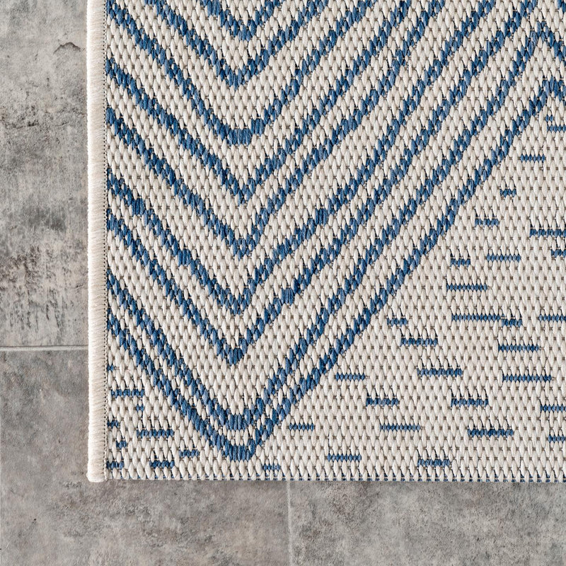 Wavy Chevron Outdoor Area Rug
