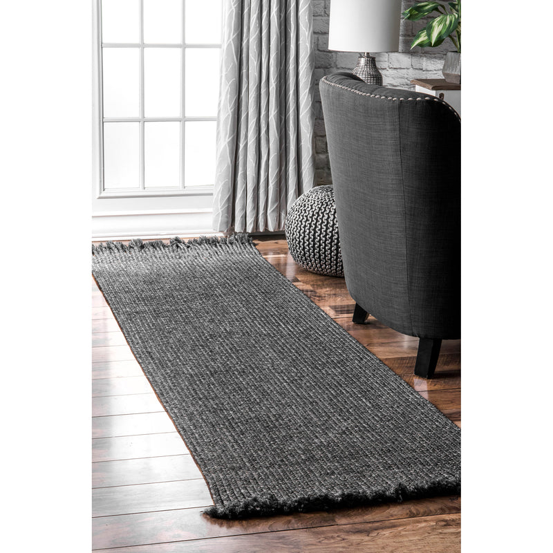 Braided Courtney Tassel Indoor/Outdoor Area Rug