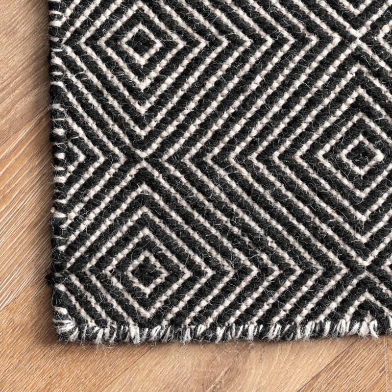 Ago Wool Hand Woven Area Rug