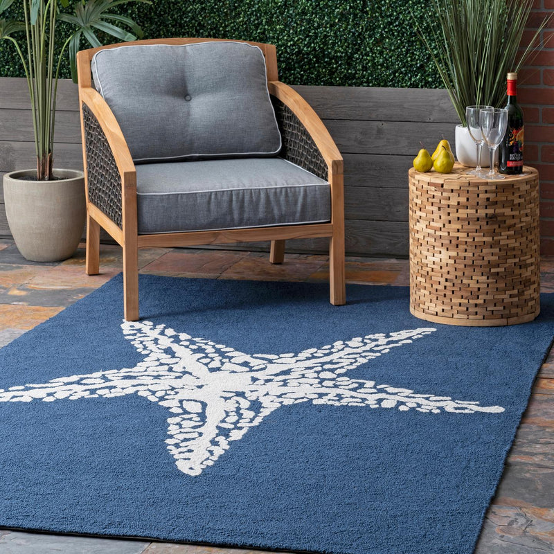 nuLOOM Hand Hooked Marine Indoor/ Outdoor Area Rug