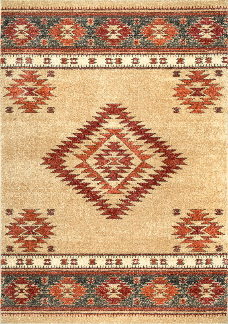 Tribal Diamond Margene Rug Area Rug