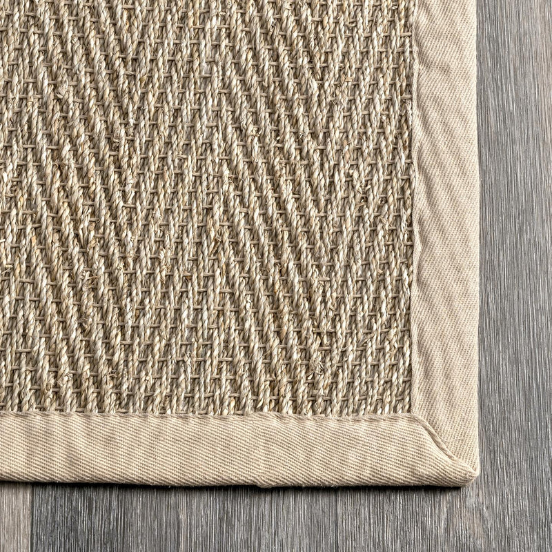 nuLOOM Larnaca Seagrass Herringbone Indoor/Outdoor Area Rug