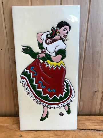 Mexican Lady Tile