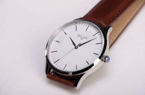 Iconic Brown and Silver Men's Watch
