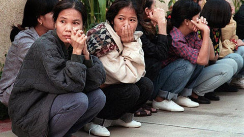 Thai garment workers during the El Monte Raid