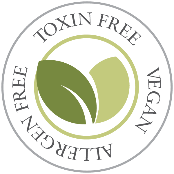 basq leaf logo: toxin, allergen free and vegan