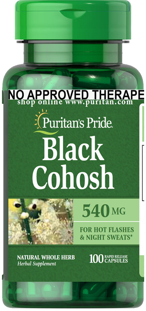 Puritan's Pride Black Cohosh 540mg 100 capsules