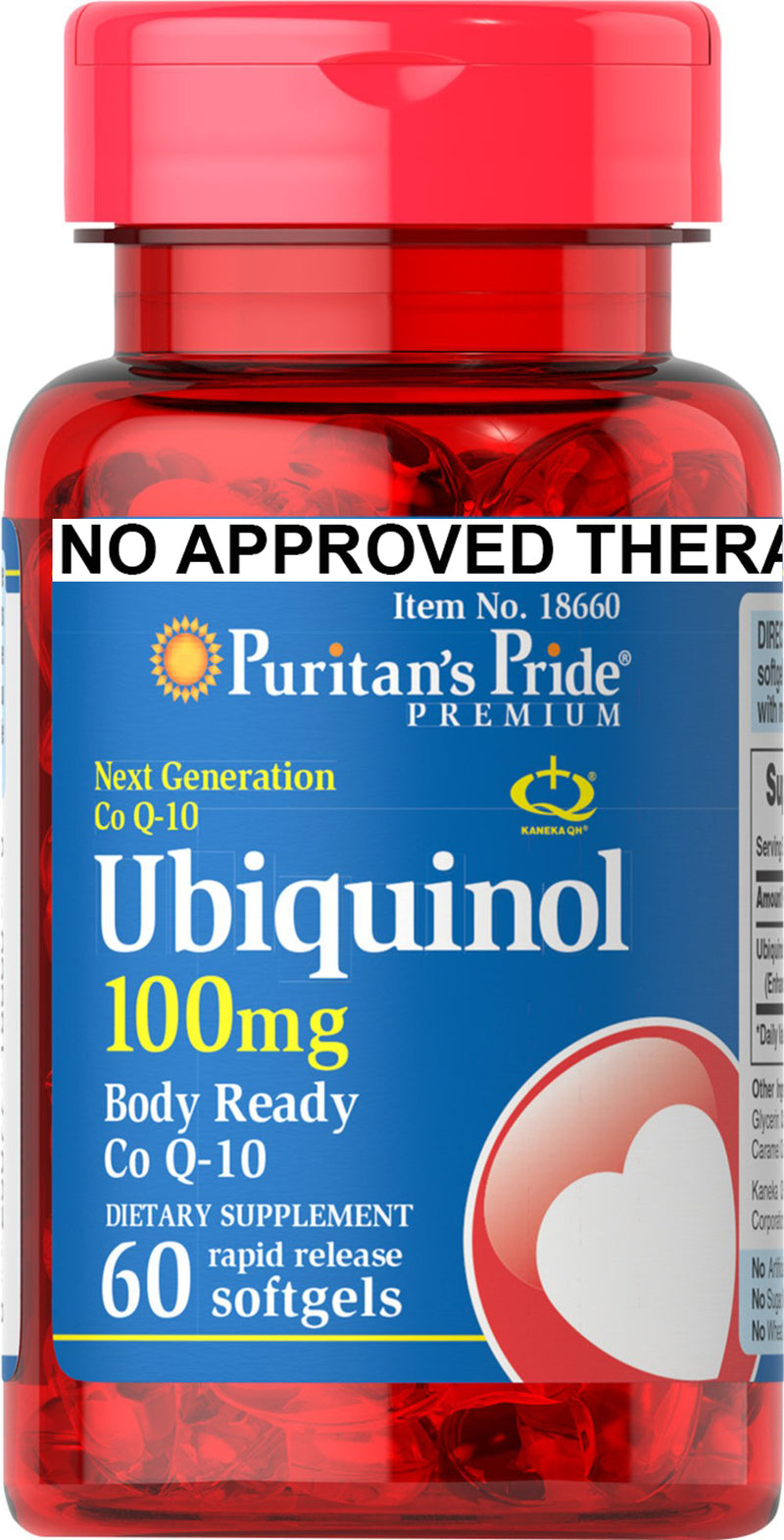 Puritan's Pride Ubiquinol 100mg 60 softgels