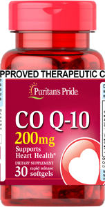 Puritan's Pride Coenzyme Q10 Co Q-10 200mg 30 softgels