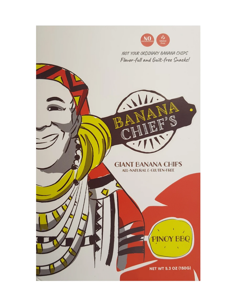 Banana Chief's Giant Banana Chips Pinoy BBQ 150g