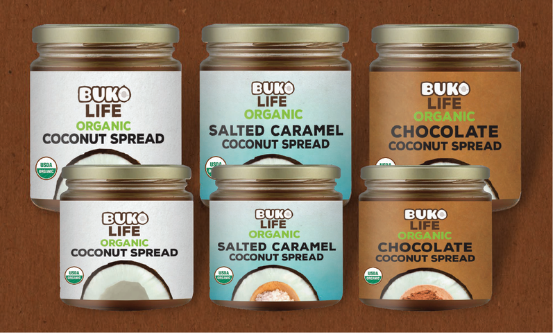 Buko Life Organic Coconut Spread Variety Pack 3's x 40g