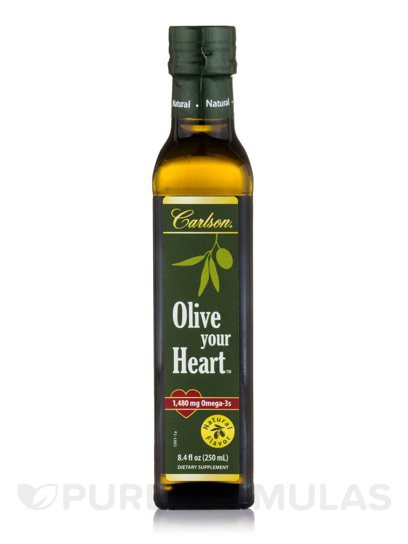 Carlson Olive Your Heart, Olive Oil and Fish Oil 1,480 mg, Natural Flavor 250ml