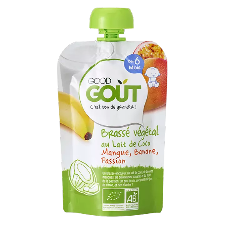 Good Gout Coconut Milk, Mango, Banana, Passion Fruit 90g