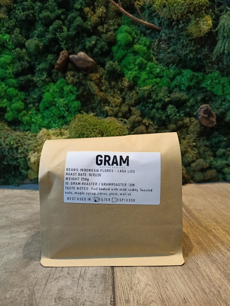Gram Coffee Roaster Indonesia Flores Laga Liza 250g