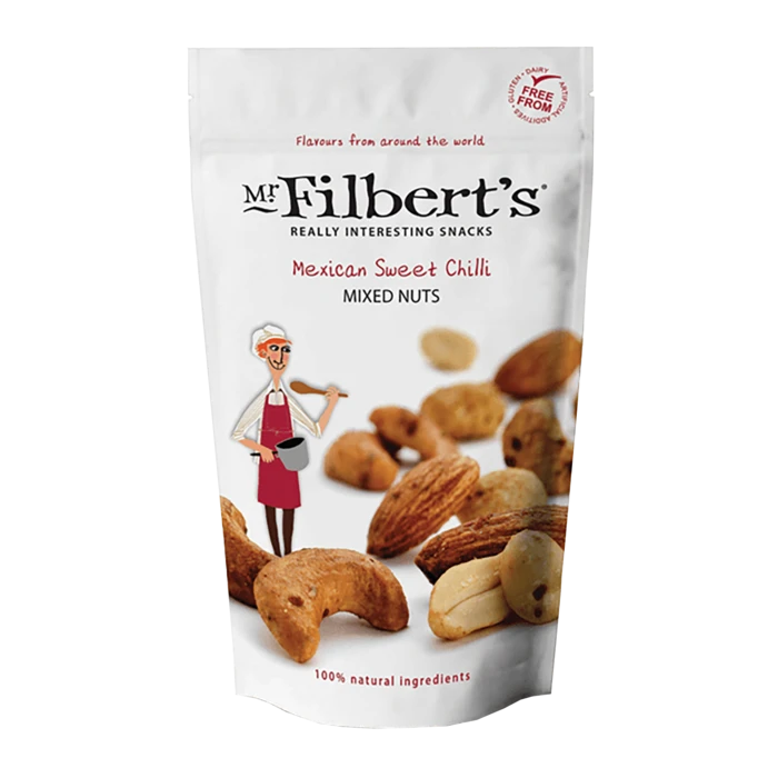 Mr. Filberts Mexican Sweet Chilli Mixed Nuts 110g