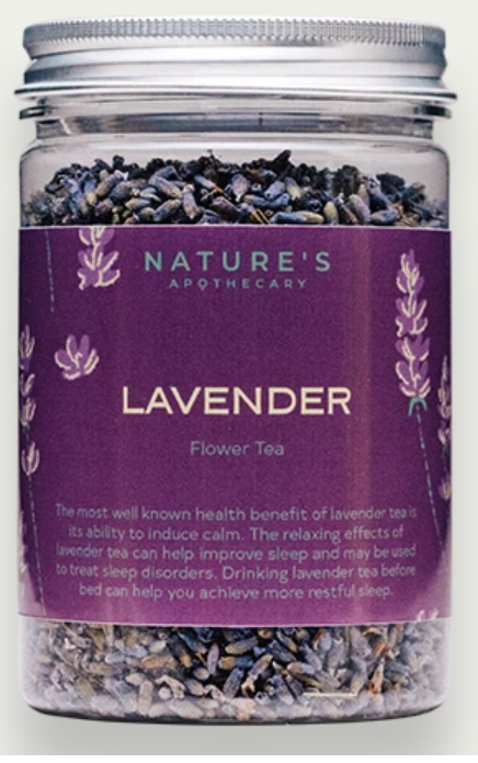 Nature's Apothecary Lavender Flower Tea 25g