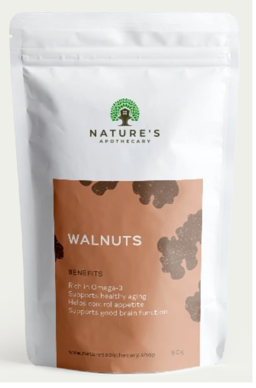 Nature's Apothecary Raw Walnuts 80g