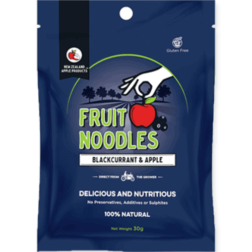 New Zealand Apple Products Fruit Noodles Blackcurrant 30g