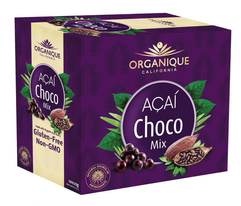 Organique Acai Choco Mix 25g 10's