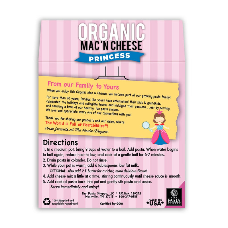 Pastabilities Mac N Cheese Princess 283g