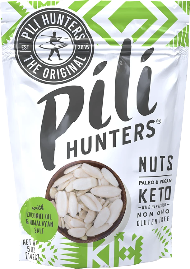 Pili Hunters Sprouted Pili Nuts Coconut Oil & Himalayan Salt 142g