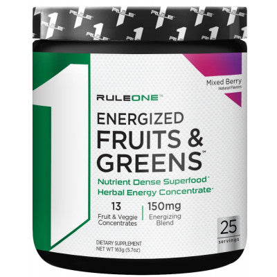 Rule 1 Energized Fruits and Greens Mixed Berry 25 servings