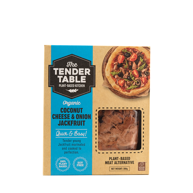 The Tender Table Organic Coconut Cheese and Onion Jackfruit 300g