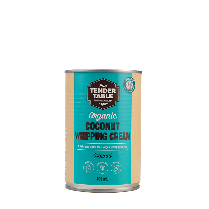 The Tender Table Organic Dairy-Free Coconut Whipping Cream Original 400ml