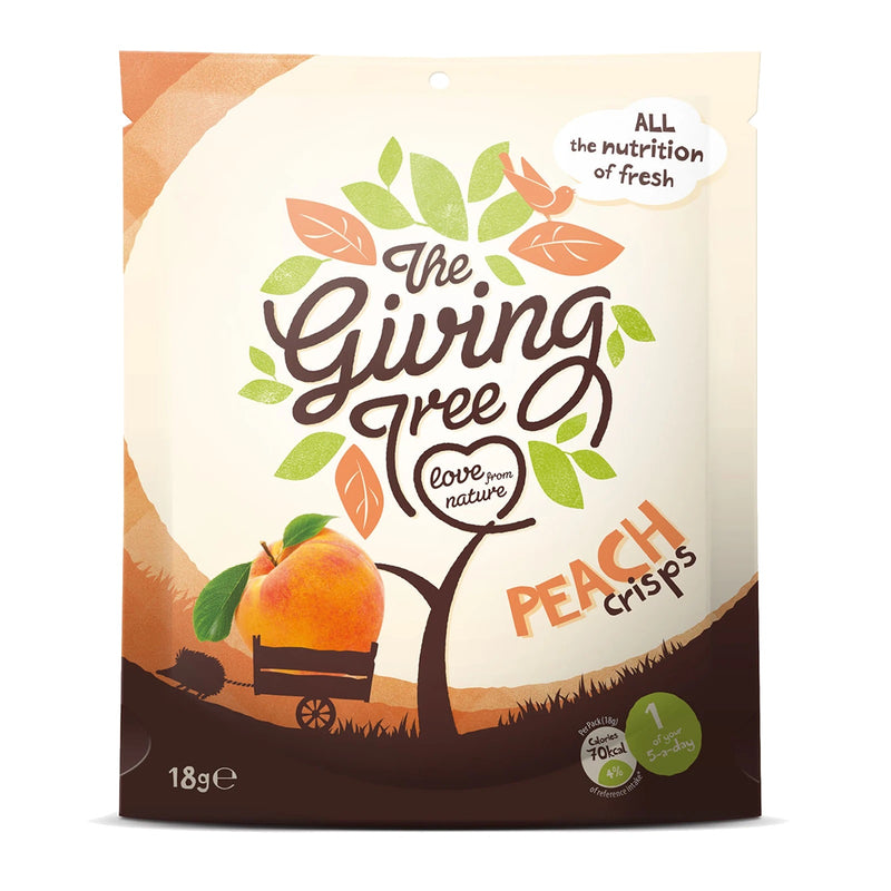 The Giving Tree Freeze Dried Peach Crisps 18g
