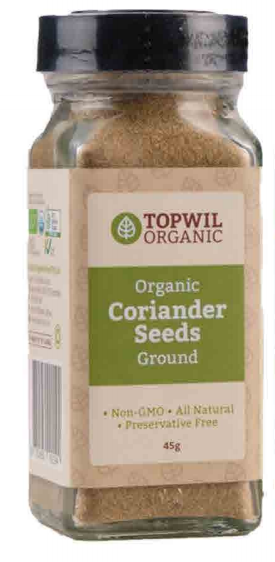Topwil Organic Coriander Seeds Ground 45g