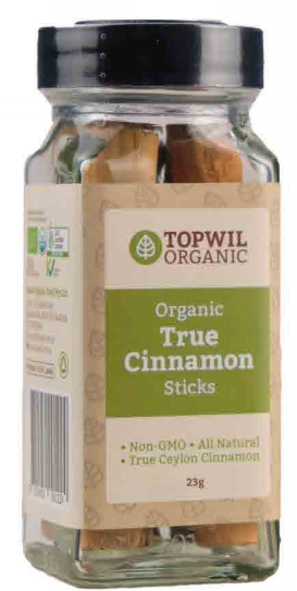 Topwil Organic True Cinnamon Sticks 23g