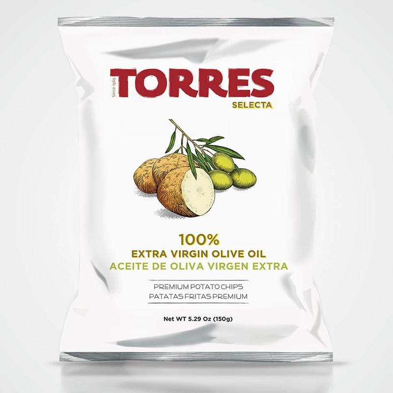 Torres Selecta Premium Potato Chips 100% Extra Virgin Olive Oil 150g