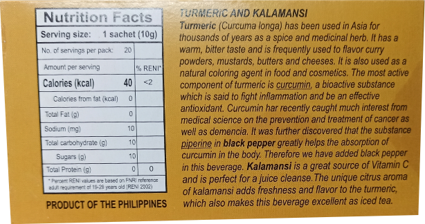 Gourmet Herbal Tea Collection Turmeric Kalamansi 10g 20's