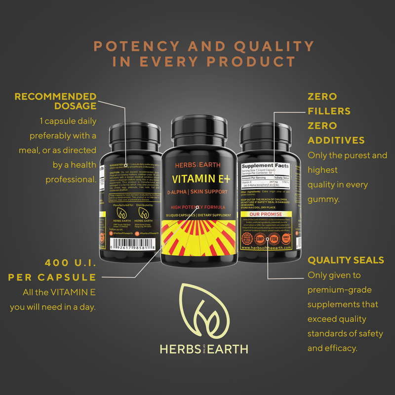 Herbs of the Earth Vitamin E 400 I.U. 50's
