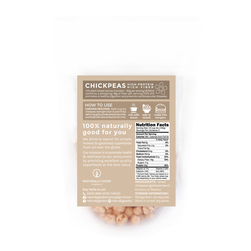 Naturally Good Company Dried Chickpea 250g