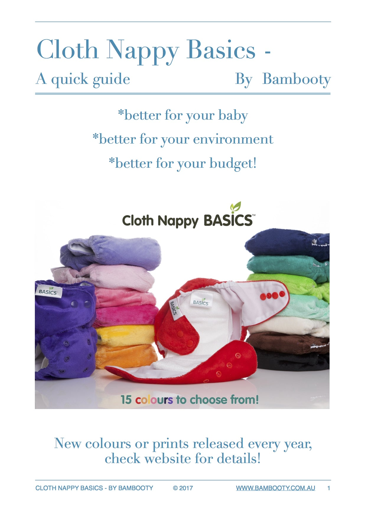 A quick guide to cloth nappy Basics, by Bambooty 1