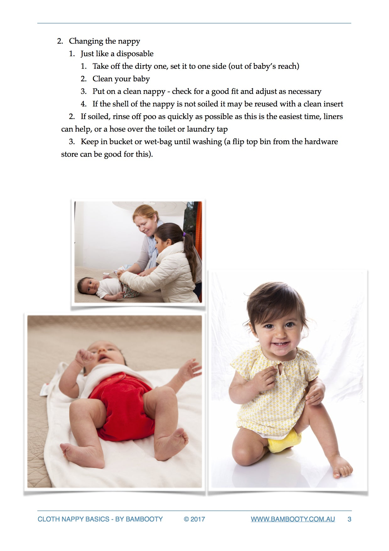 A quick guide to cloth nappy Basics, by Bambooty 3