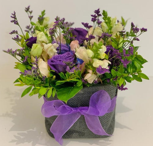 Purple Flower Box - Ambient Flores