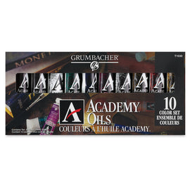 Academy Oil 10 Color Set, 24ml