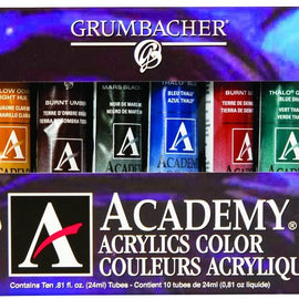 Academy Acrylic 10-Color Set