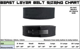 10mm Beast Lever Belt BlackOut